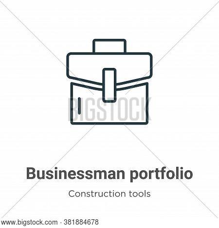 Businessman portfolio icon isolated on white background from tools collection. Businessman portfolio