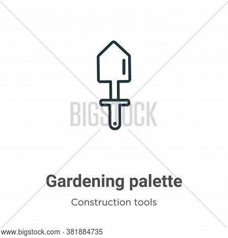 Gardening palette icon isolated on white background from tools collection. Gardening palette icon tr