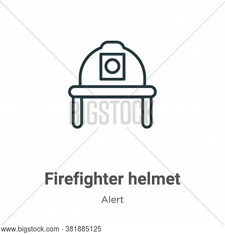Firefighter helmet icon isolated on white background from alert collection. Firefighter helmet icon