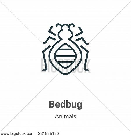Bedbug Icon From Animals Collection Isolated On White Background.