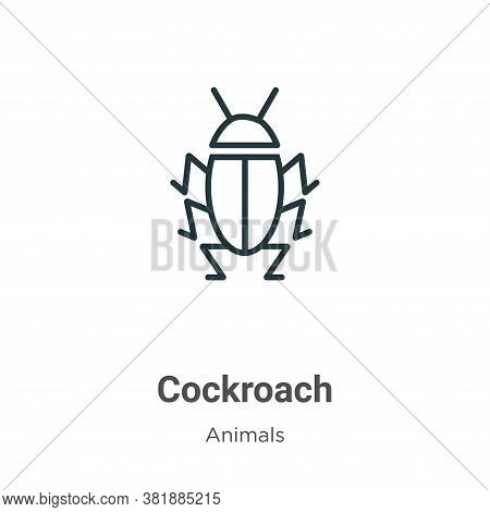 Cockroach icon isolated on white background from animals collection. Cockroach icon trendy and moder
