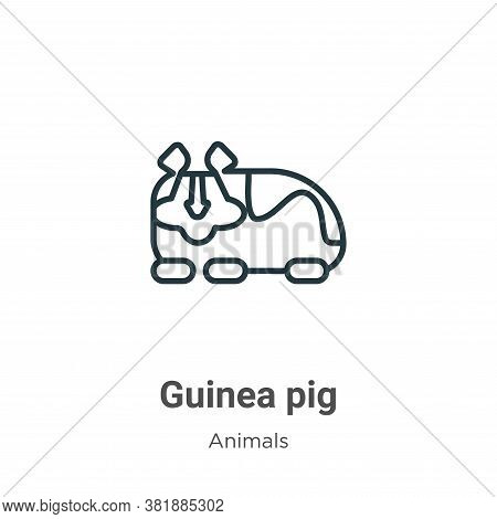 Guinea pig icon isolated on white background from animals collection. Guinea pig icon trendy and mod