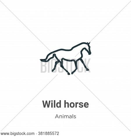 Wild horse icon isolated on white background from animals collection. Wild horse icon trendy and mod