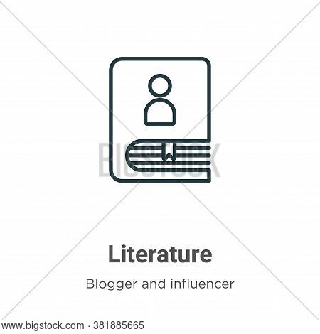 Literature icon isolated on white background from blogger and influencer collection. Literature icon