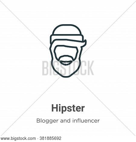 Hipster icon isolated on white background from blogger and influencer collection. Hipster icon trend