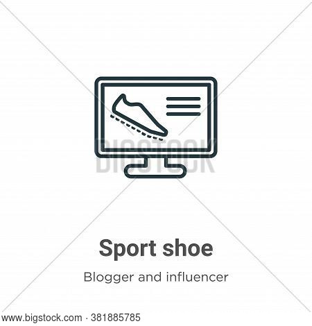 Sport shoe icon isolated on white background from blogger and influencer collection. Sport shoe icon