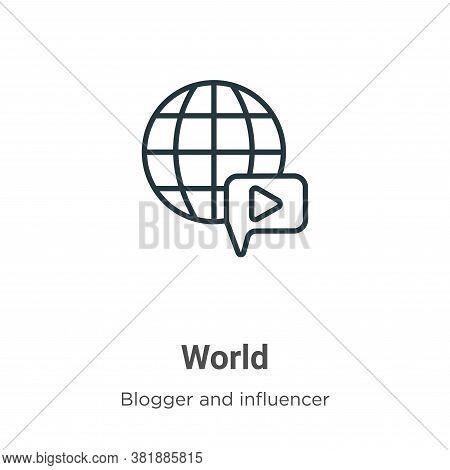World icon isolated on white background from blogger and influencer collection. World icon trendy an