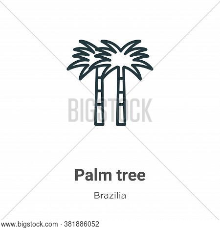Palm tree icon isolated on white background from brazilia collection. Palm tree icon trendy and mode
