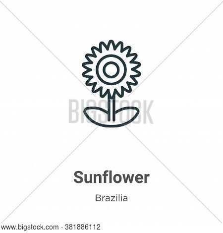 Sunflower icon isolated on white background from brazilia collection. Sunflower icon trendy and mode