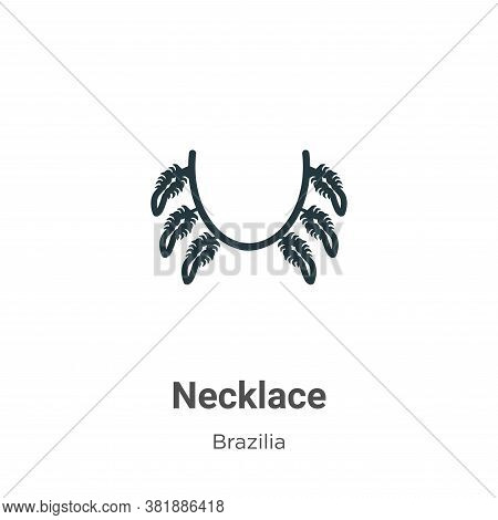 Necklace icon isolated on white background from brazilia collection. Necklace icon trendy and modern