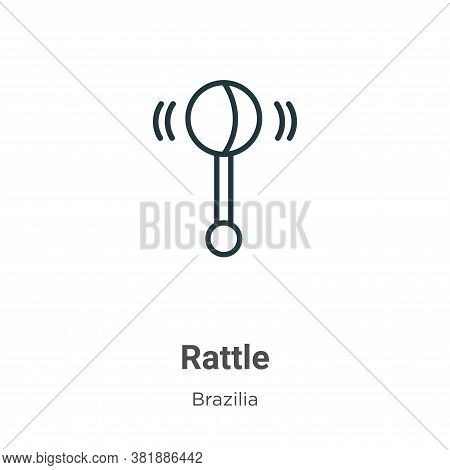 Rattle Icon From Brazilia Collection Isolated On White Background.