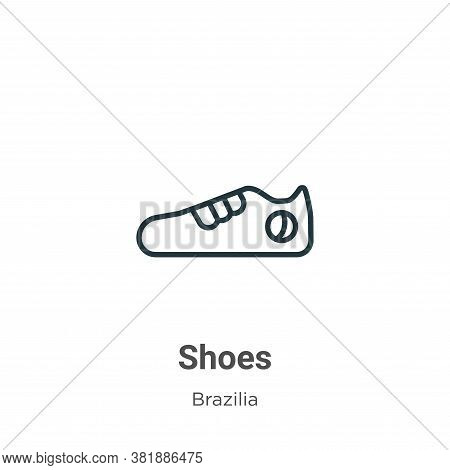 Shoes icon isolated on white background from brazilia collection. Shoes icon trendy and modern Shoes