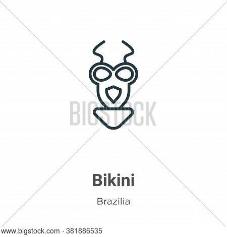 Bikini icon isolated on white background from brazilia collection. Bikini icon trendy and modern Bik