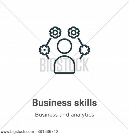 Business skills icon isolated on white background from business and analytics collection. Business s
