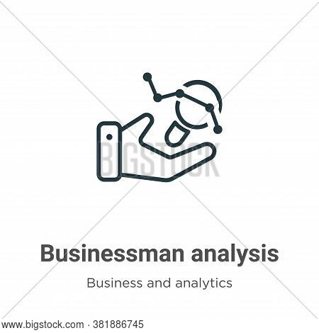 Businessman analysis icon isolated on white background from business and analytics collection. Busin