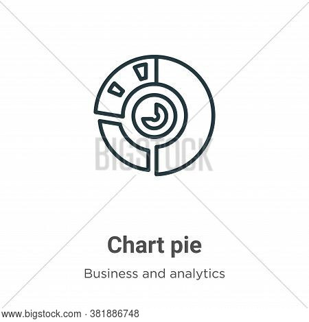 Chart pie icon isolated on white background from business and analytics collection. Chart pie icon t