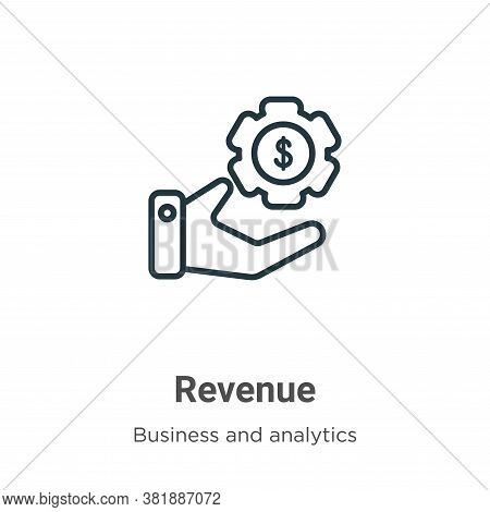Revenue icon isolated on white background from business and analytics collection. Revenue icon trend