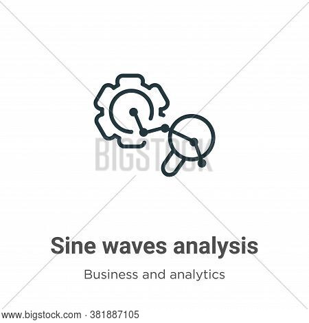 Sine waves analysis icon isolated on white background from business and analytics collection. Sine w