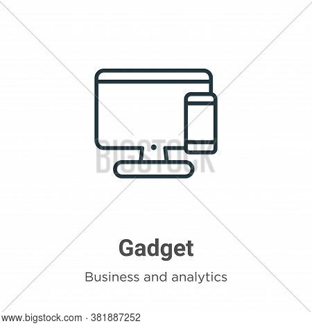 Gadget icon isolated on white background from business collection. Gadget icon trendy and modern Gad