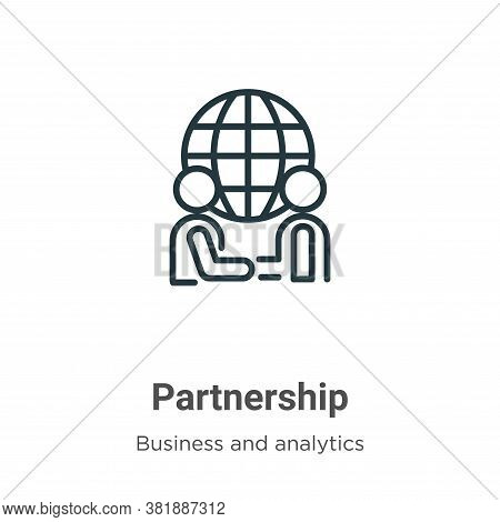 Partnership icon isolated on white background from business collection. Partnership icon trendy and