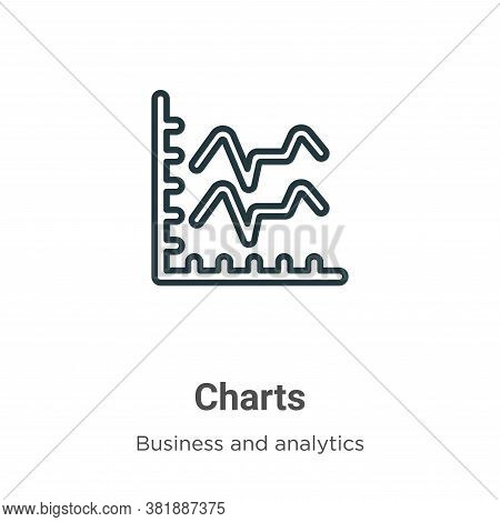 Charts icon isolated on white background from business collection. Charts icon trendy and modern Cha