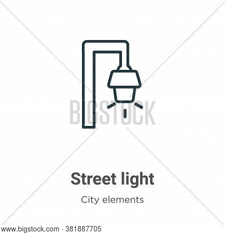 Street light icon isolated on white background from city elements collection. Street light icon tren