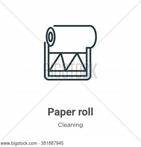 Paper roll icon isolated on white background from cleaning collection. Paper roll icon trendy and mo