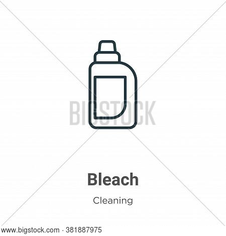 Bleach icon isolated on white background from cleaning collection. Bleach icon trendy and modern Ble