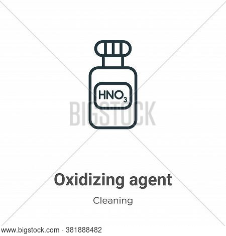 Oxidizing agent icon isolated on white background from cleaning collection. Oxidizing agent icon tre