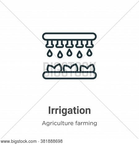 Irrigation icon isolated on white background from agriculture farming and gardening collection. Irri