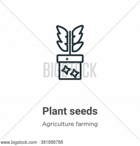 Plant seeds icon isolated on white background from agriculture farming and gardening collection. Pla