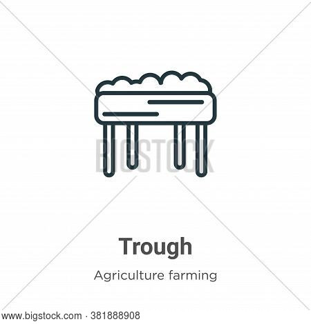 Trough icon isolated on white background from agriculture farming and gardening collection. Trough i