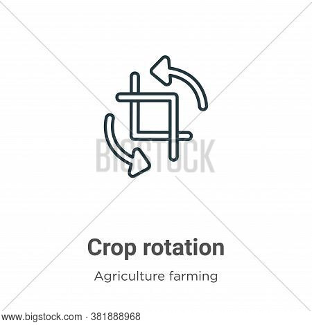 Crop rotation icon isolated on white background from agriculture farming and gardening collection. C