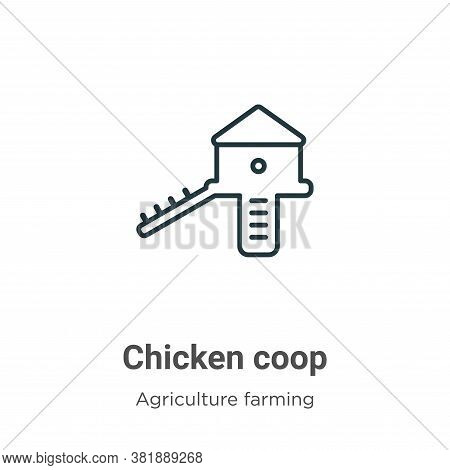 Chicken coop icon isolated on white background from farming collection. Chicken coop icon trendy and