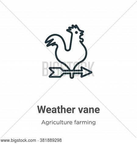 Weather vane icon isolated on white background from farming collection. Weather vane icon trendy and
