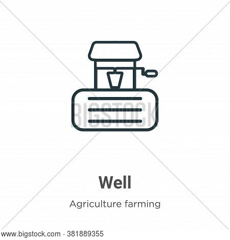 Well icon isolated on white background from farming collection. Well icon trendy and modern Well sym