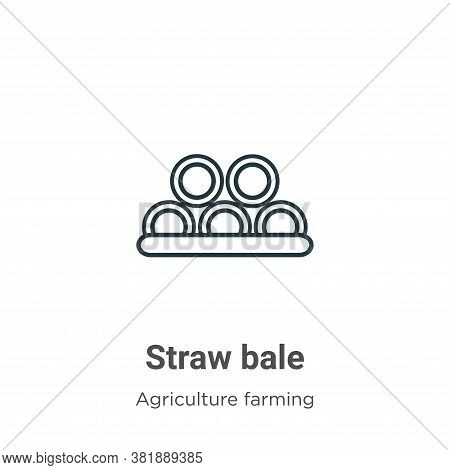 Straw bale icon isolated on white background from farming collection. Straw bale icon trendy and mod