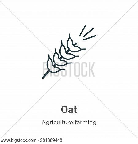 Oat icon isolated on white background from farming collection. Oat icon trendy and modern Oat symbol