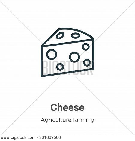 Cheese icon isolated on white background from farming collection. Cheese icon trendy and modern Chee