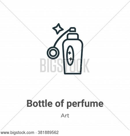 Bottle of perfume icon isolated on white background from art collection. Bottle of perfume icon tren