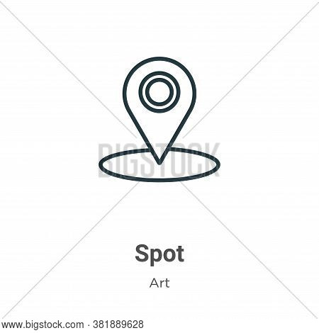 Spot icon isolated on white background from art collection. Spot icon trendy and modern Spot symbol