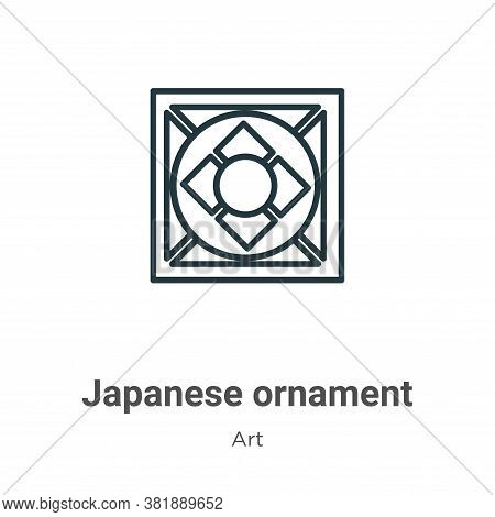 Japanese ornament icon isolated on white background from art collection. Japanese ornament icon tren