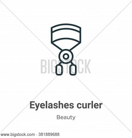 Eyelashes curler icon isolated on white background from beauty collection. Eyelashes curler icon tre