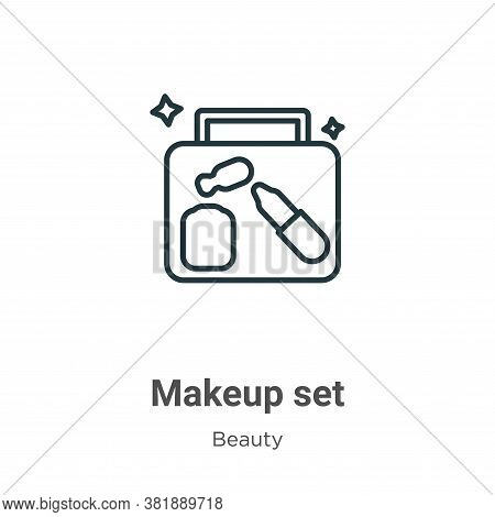 Makeup set icon isolated on white background from beauty collection. Makeup set icon trendy and mode