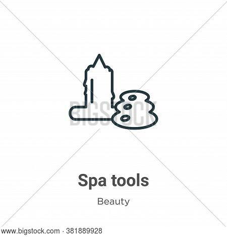 Spa tools icon isolated on white background from beauty collection. Spa tools icon trendy and modern