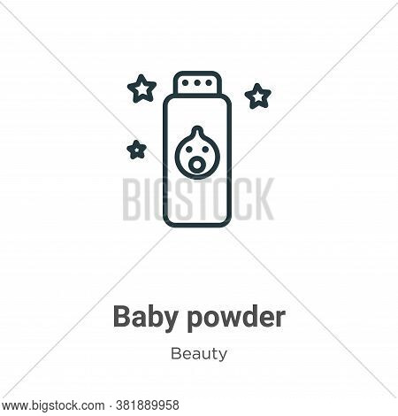 Baby powder icon isolated on white background from beauty collection. Baby powder icon trendy and mo
