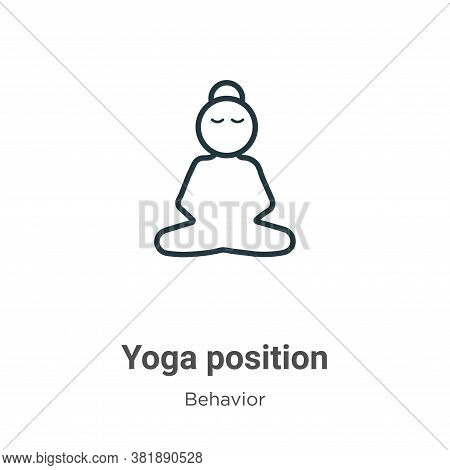 Yoga position icon isolated on white background from behavior collection. Yoga position icon trendy