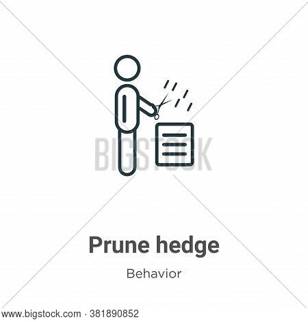 Prune hedge icon isolated on white background from behavior collection. Prune hedge icon trendy and