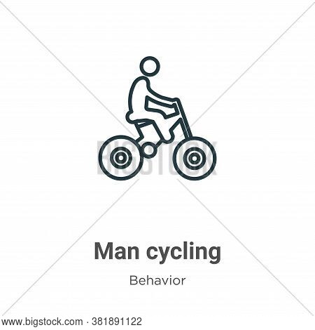 Man cycling icon isolated on white background from behavior collection. Man cycling icon trendy and