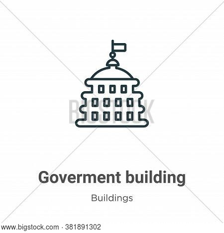 Goverment Building Icon From Buildings Collection Isolated On White Background.